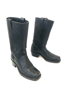 Frye |  Black Motorcycle Boots | Size 8