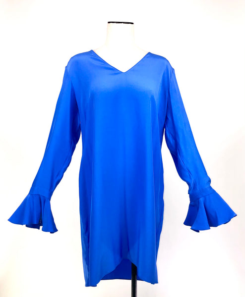 Cobalt Liberty Silk Tunic | Size L / US 8