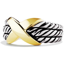 Load image into Gallery viewer, David Yurman | X Triple Ring | Size 6.5