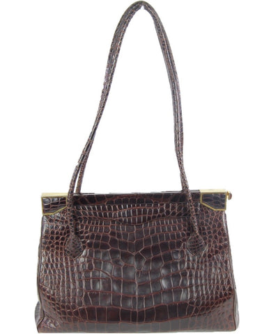 Vintage Brown Crocodile Handbag