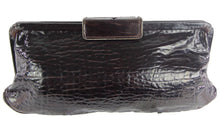 Load image into Gallery viewer, Marni | Espresso Brown Croc Embossed Leather Clutch