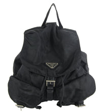 Load image into Gallery viewer, Prada | Black Nylon Logo Backpack
