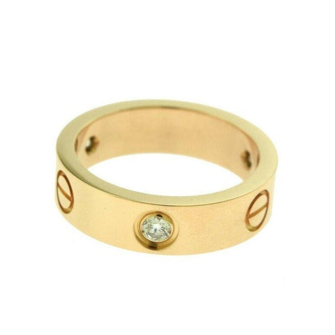 Love Ring 18K Sz 5.25