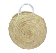Load image into Gallery viewer, Themis. Z | Round Straw Beach Tote
