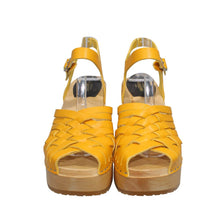 Load image into Gallery viewer, Hasbeens | Warm Yellow Marina Sandals Sz 7/37