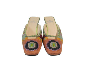Fendi | Vintage Beaded Multicolor Mule Sz 7.5