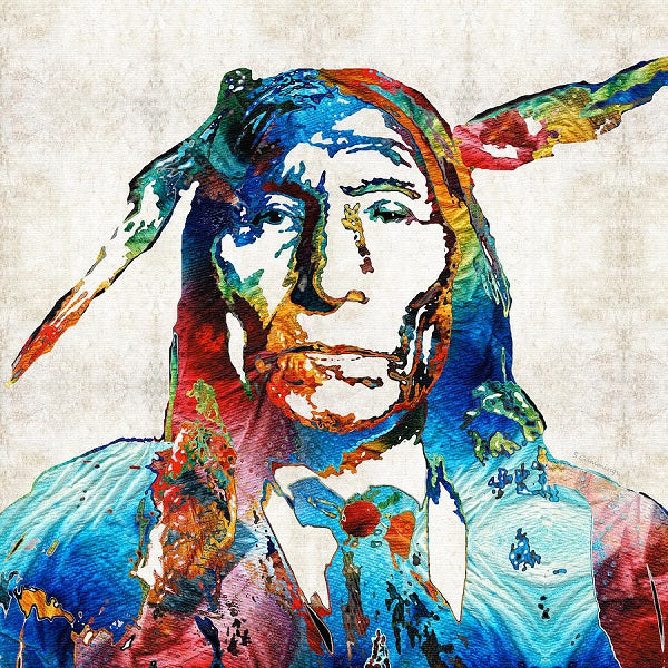 Diamond Painting Native American warrior