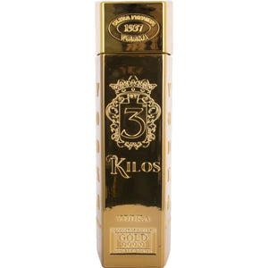 (1 LITRE BOTTLE) 3 Kilos, Gold Bar Premium Vodka, Original - 1L