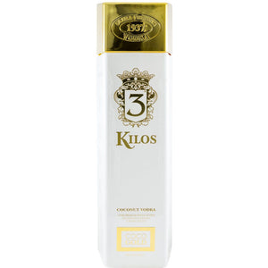 1 LITRE BOTTLE - 3 Kilos, White Gold Bar Premium Coconut Flavoured Vodka - 1L