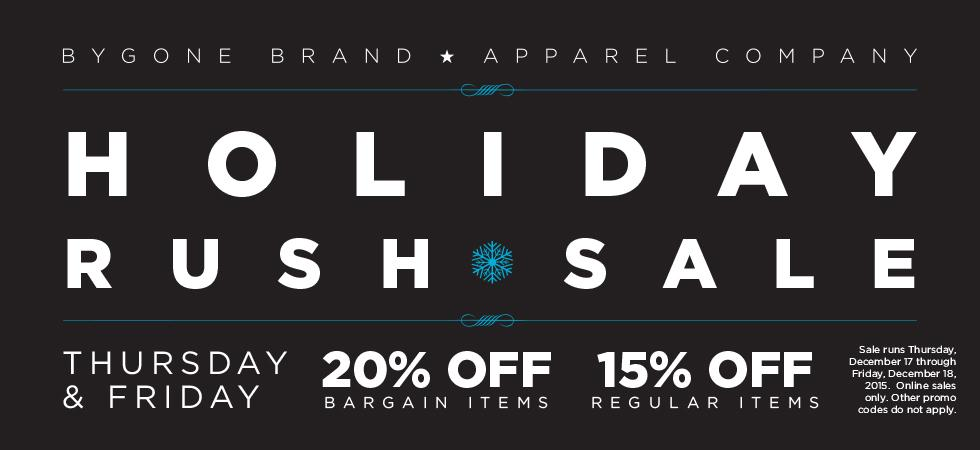 Holiday Rush Sale