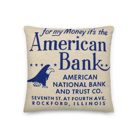 American Bank Pillow