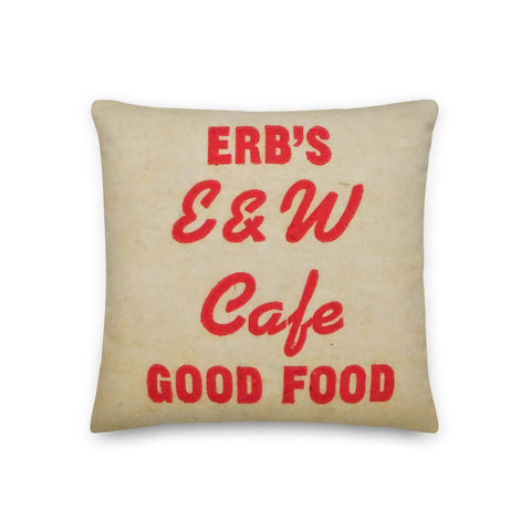 Erb's E&W Cafe Pillow