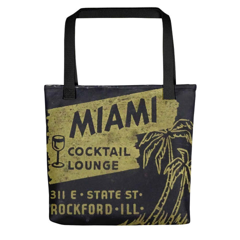 Miami Cocktail Lounge Tote Bag