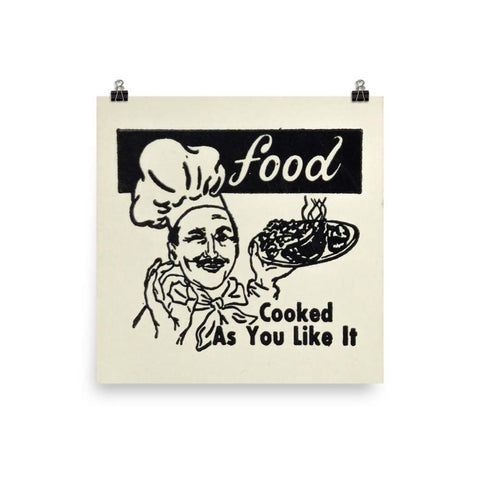 Food Cooked As You Like It Poster