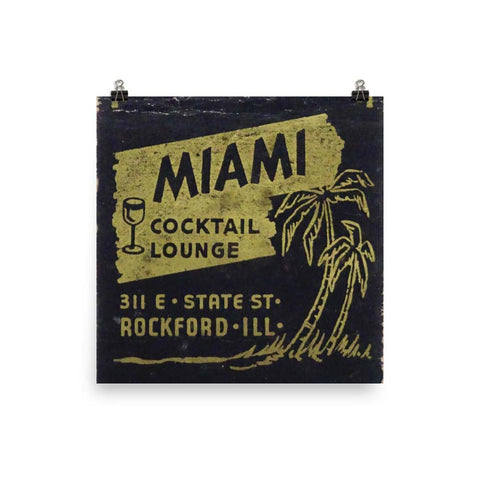Miami Cocktail Lounge Poster