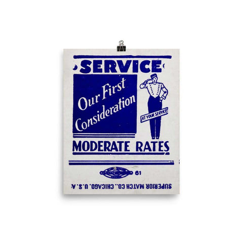 Service Moderate Rates Poster