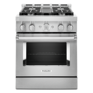 KitchenAid stainless steel commercial range