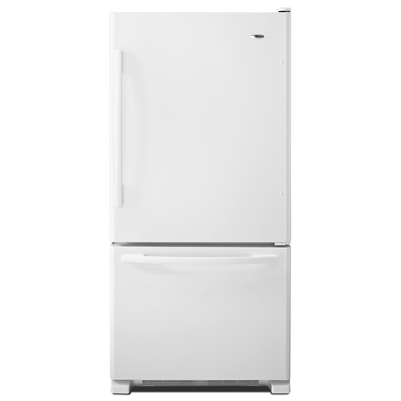Amana® 33-inch Wide Amana® Bottom-Freezer Refrigerator with EasyFreezer™ Pull-Out Drawer − 22 cu. ft. Capacity ABB2224BRM