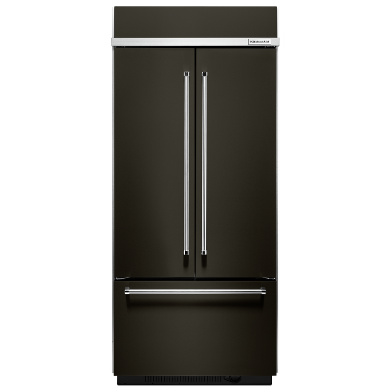 "20.8 Cu. Ft. 36"" Width Built In Stainless Steel French Door Refrigerator with Platinum Interior Design KBFN506ESS"