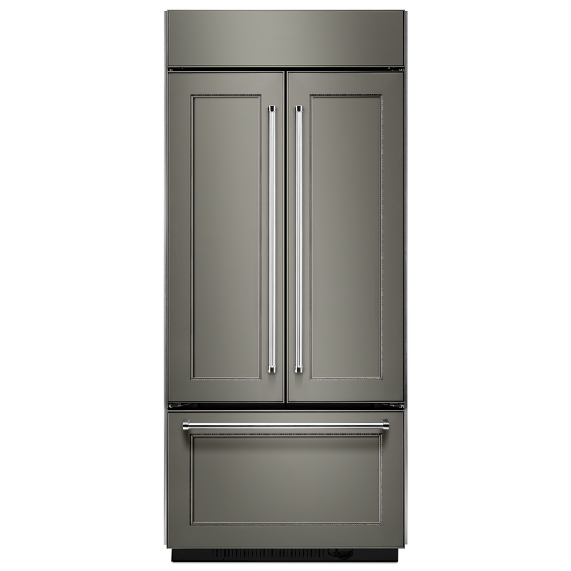 "20.8 Cu. Ft. 36"" Width Built-In Panel Ready French Door Refrigerator with Platinum Interior Design KBFN506EPA"