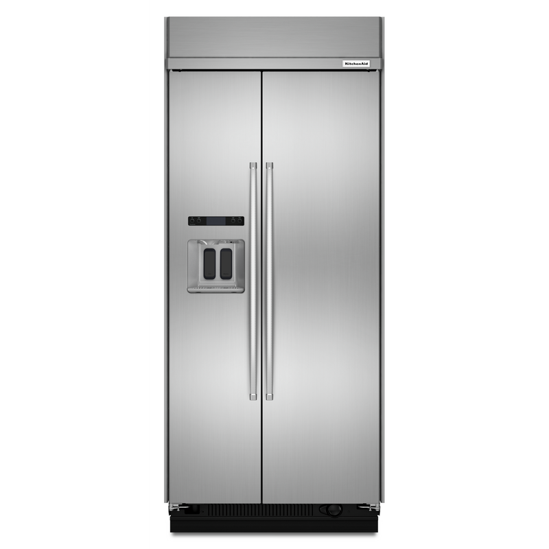 20.8 cu ft 36-Inch Width Built-In Side-by-Side Refrigerator KBSD606ESS