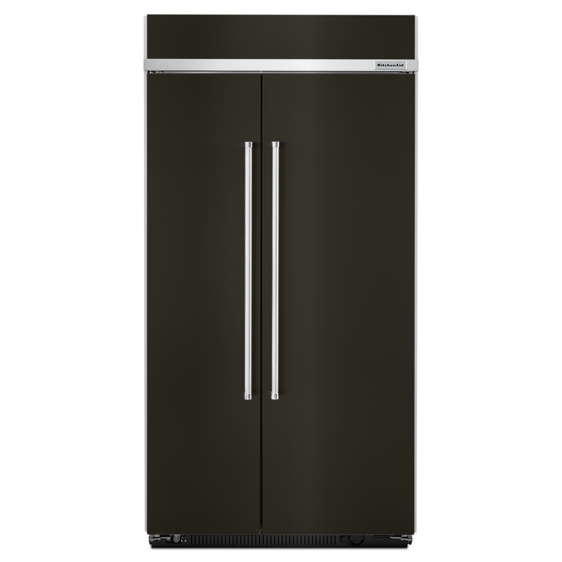 25.5 cu. ft 42-Inch Width Built-In Side by Side Refrigerator with PrintShield™ Finish KBSN602EBS