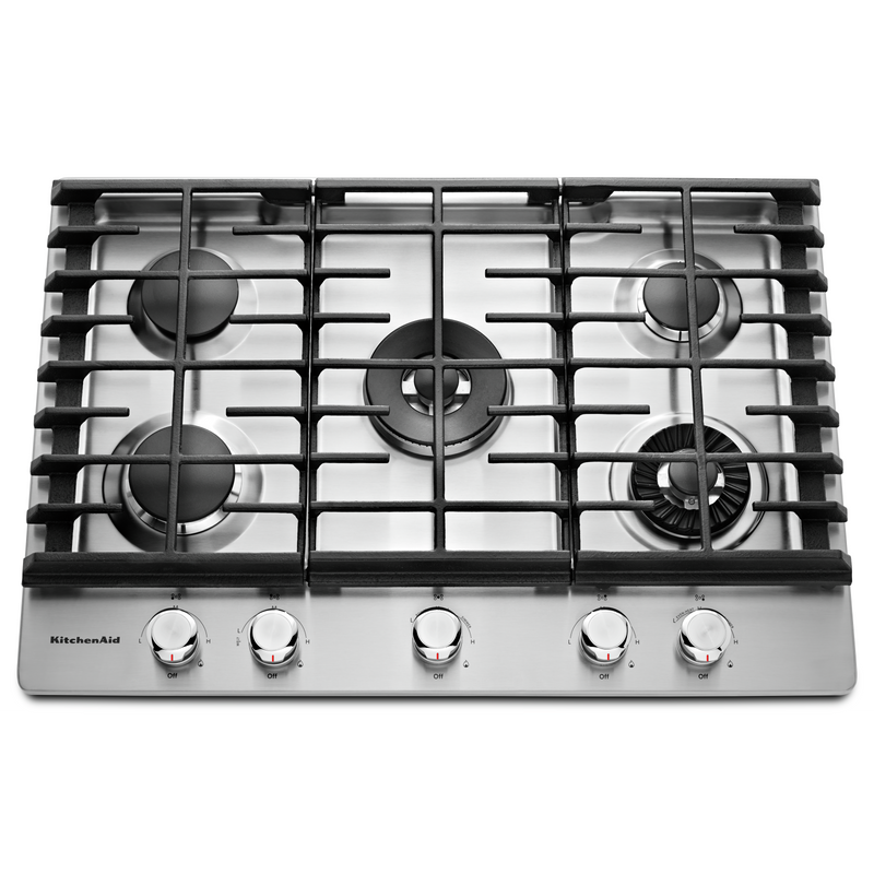 "30"" 5-Burner Gas Cooktop with Griddle KCGS950ESS"