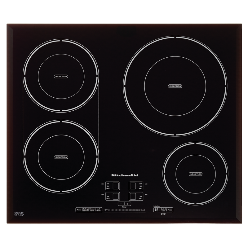 24-Inch, 4-Element Induction Cooktop KCIG704FBL