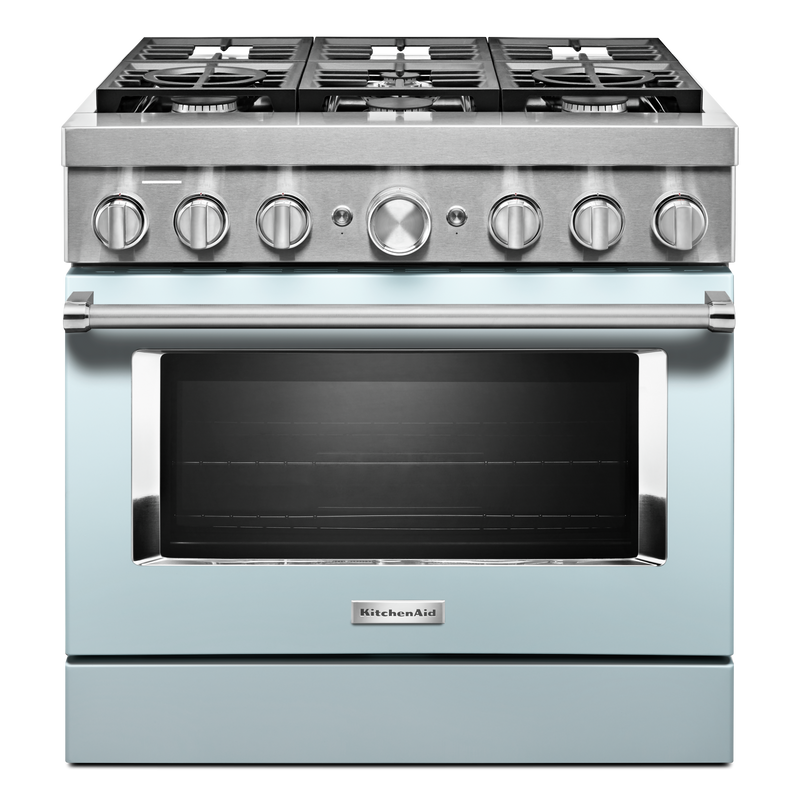 KitchenAid® 36'' Smart Commercial-Style Dual Fuel Range with 6 Burners KFDC506JPA