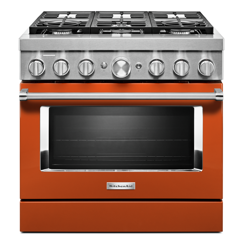 KitchenAid® 36'' Smart Commercial-Style Dual Fuel Range with 6 Burners KFDC506JYP