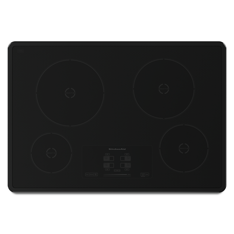 30-Inch 4-Element Induction Cooktop, Architect® Series II KICU500XBL