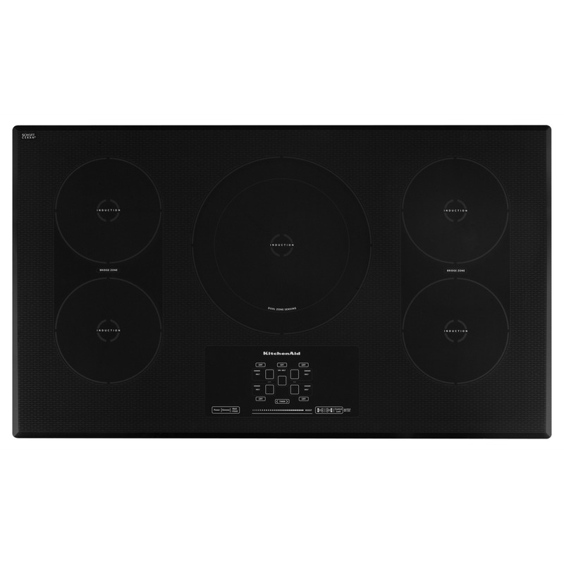 "36"" Induction Cooktop with 5 Elements, Touch-Activated Controls and Power Slider KICU569XSS"