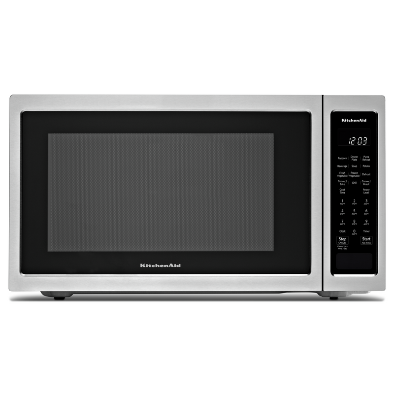 "21 3/4"" Countertop Convection Microwave Oven with PrintShield™ Finish - 1000 Watt KMCC5015GBS"