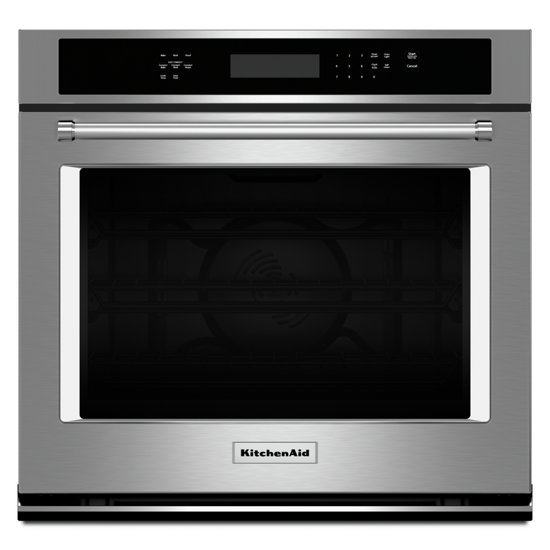 "30"" Single Wall Oven with Even-Heat™ True Convection KOSE500EBL"