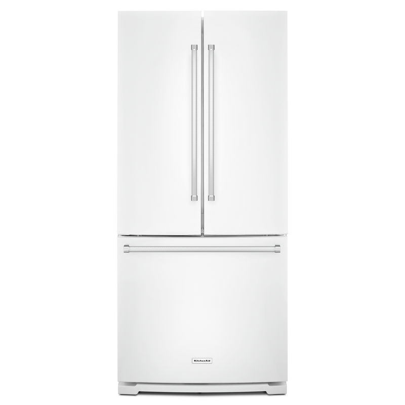 20 cu. Ft. 30-Inch Width Standard Depth French Door Refrigerator with Interior Dispense KRFF300EWH