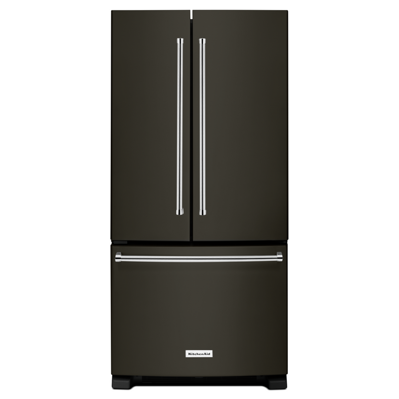 22 cu. Ft. 33-Inch Width Standard Depth French Door Refrigerator with Interior Dispense KRFF302EWH