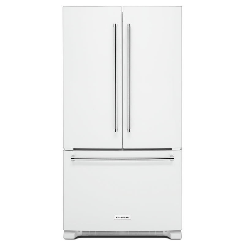 25 Cu. Ft. 36-Width Standard Depth French Door Refrigerator with Interior Dispense KRFF305EWH