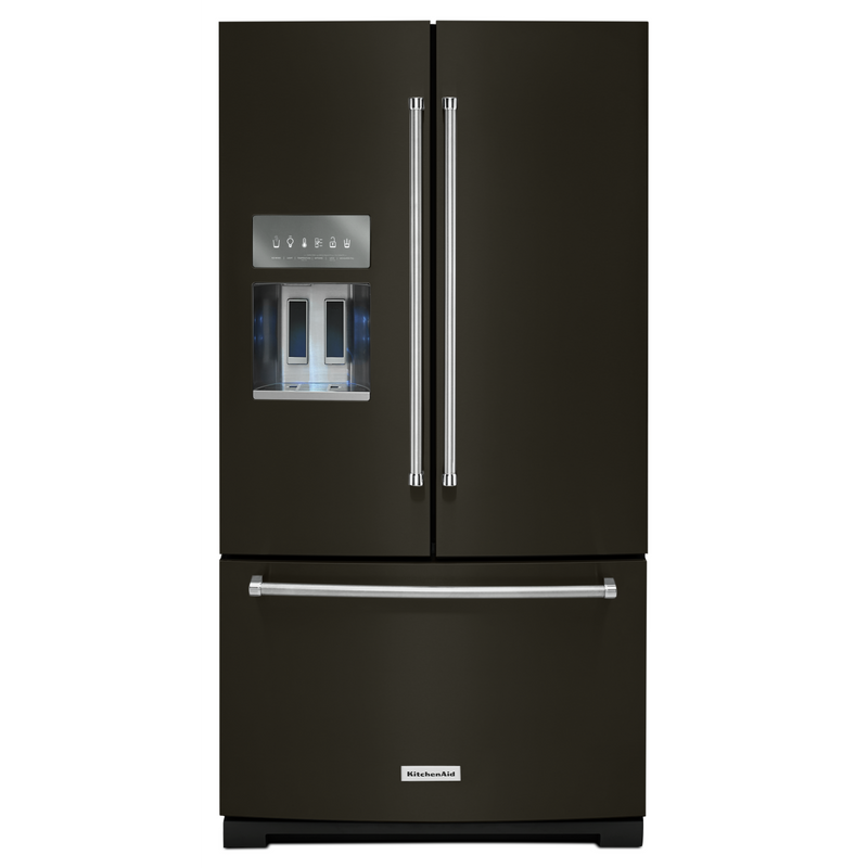 26.8 cu. ft. 36-Inch Width Standard Depth French Door Refrigerator with Exterior Ice and Water KRFF507HBS