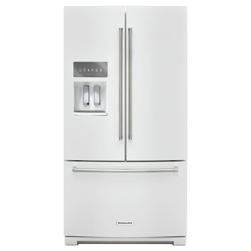 26.8 cu. ft. 36-Inch Width Standard Depth French Door Refrigerator with Exterior Ice and Water KRFF507HWH