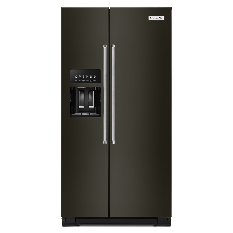 22.6 cu ft. Counter-Depth Side-by-Side Refrigerator with Exterior Ice and Water KRSC703HBS