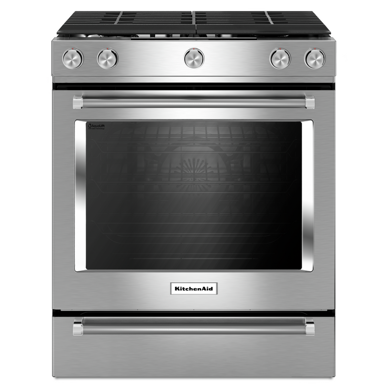30-Inch 5-Burner Gas Slide-In Convection Range KSGG700EBS