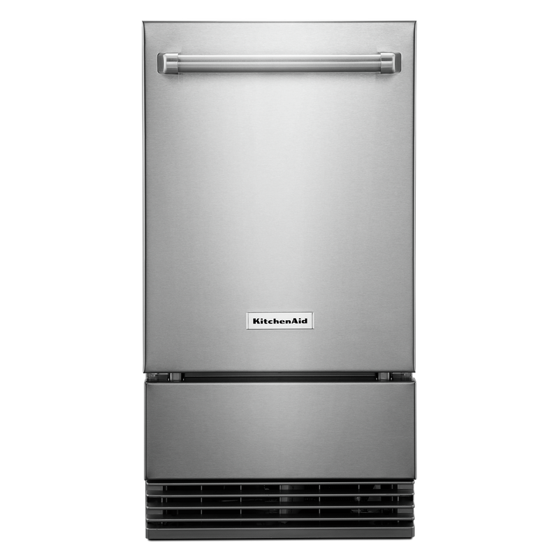 "KitchenAid® 18"" Outdoor Automatic Ice Maker KUIO338HSS"
