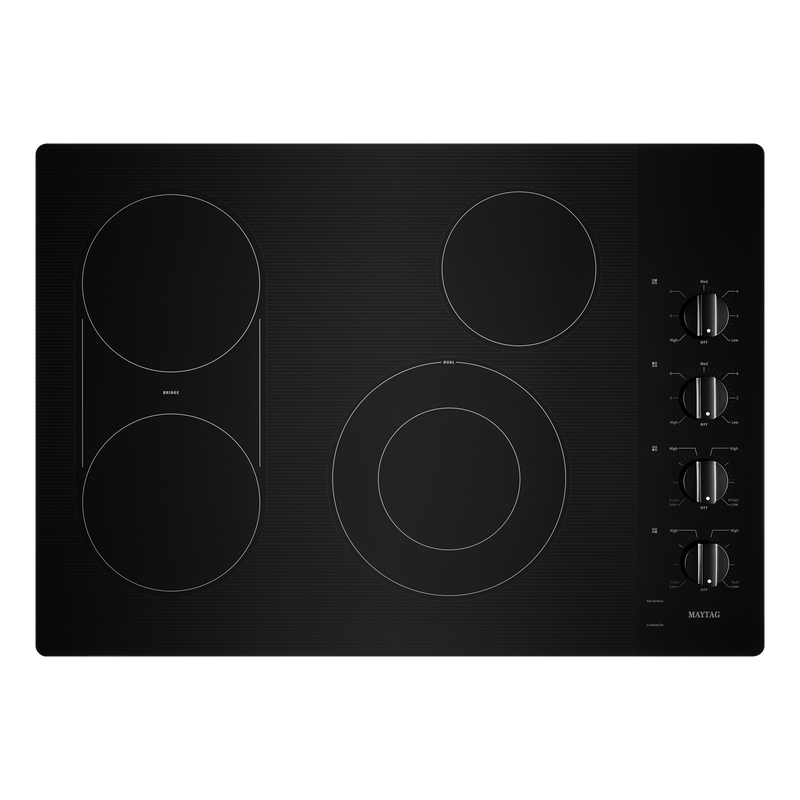 30-Inch Electric Cooktop with Reversible Grill and Griddle MEC8830HS