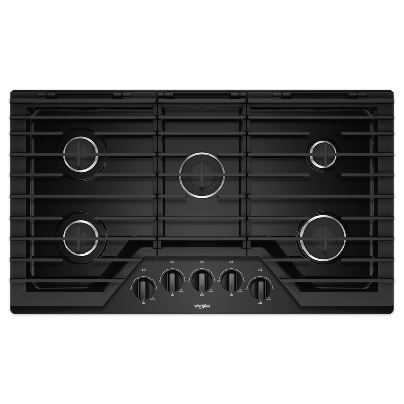 36-inch Gas Cooktop with EZ-2-Lift™ Hinged Cast-Iron Grates WCG55US6HB