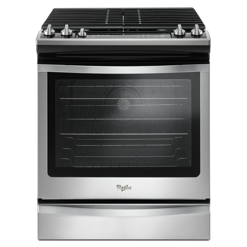 5.8 Cu. Ft. Front Control Gas Range with EZ-2-Lift™ hinged grates WEG745H0FS