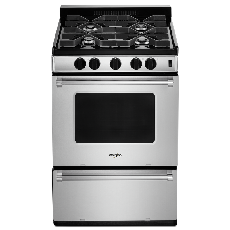 24-inch Freestanding Gas Range with Sealed Burners WFG500M4HS