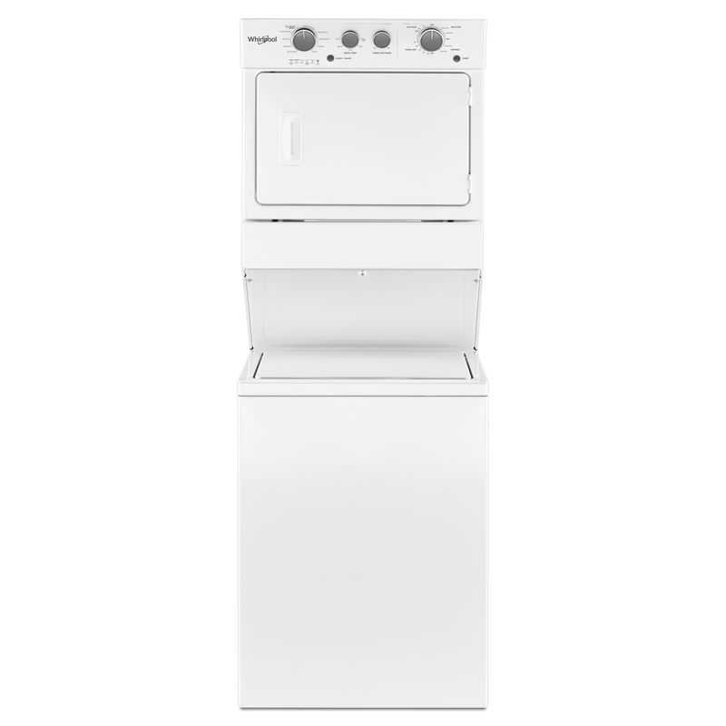 4.0 cu.ft I.E.C. Gas Stacked Laundry Center 9 Wash cycles and AutoDry™ WGT4027HW
