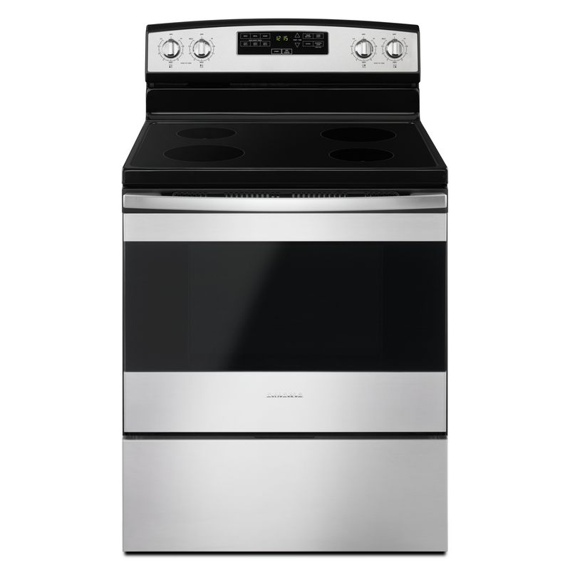 30-inch Amana® Electric Range with Extra-Large Oven Window YAER6303MFS