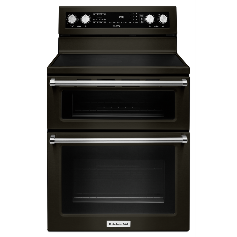 30-Inch 5 Burner Electric Double Oven Convection Range YKFED500EBS