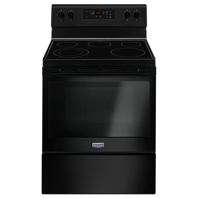 Maytag® 30-Inch Wide Electric Range With Shatter-Resistant Cooktop - 5.3 Cu. Ft. YMER6600FB